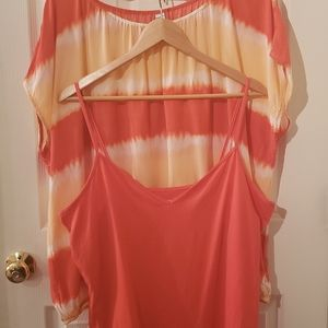 Old Navy Top Tie Dye Blouse and Cami xxL